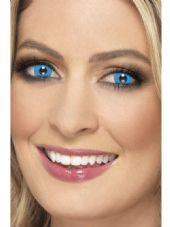 Blue Harlequin One Day Contact Lenses